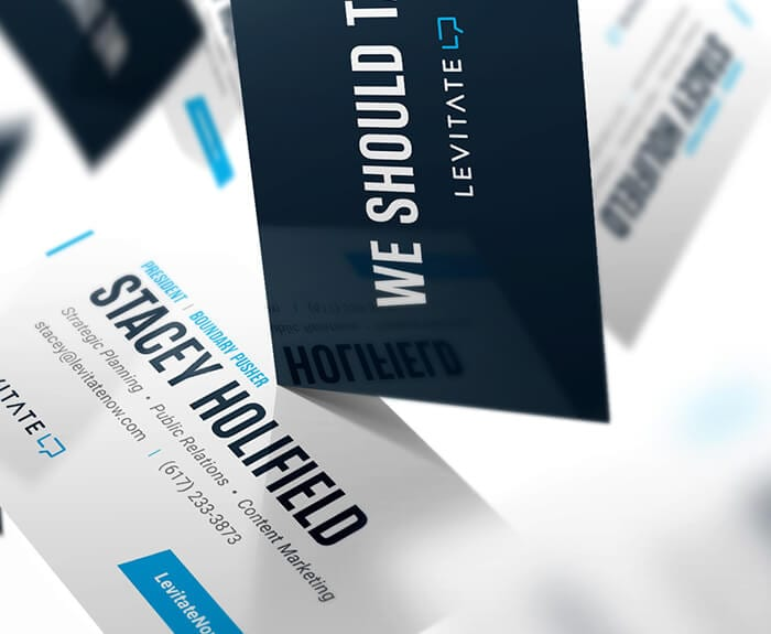 Levitate-Strategic-Communications_Public-Relations_PR_Logo_Content-Marketing_Promo-Material_Mockup_Professional_Business-Cards_Designs_Closeup